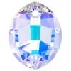 Swarovski Pendant 6734 Pure Leaf 23mm Aurora Borealis Crystal